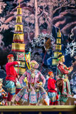Бангкок Таиланд - 13-ое декабря 2015, Khon драма танца Tha Стоковая Фотография