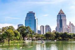 Бангкок, Таиланд - 27-ое ноября 2016: Парк Lumpini Стоковое Изображение