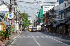 Бангкок (Таиланд) октябрь 2015 - городская жизнь Стоковое Фото