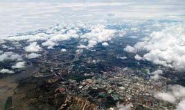 Бангкок, Таиланд от воздуха Стоковые Фотографии RF