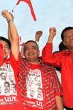 БАНГКОК - 10-ОЕ ДЕКАБРЯ: Красная демонстрация протеста рубашек - Таиланд Стоковые Изображения