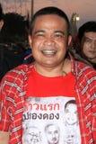 БАНГКОК - 10-ОЕ ДЕКАБРЯ: Красная демонстрация протеста рубашек - Таиланд Стоковое Изображение RF