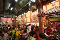 БАНГКОК, - 10-ОЕ ФЕВРАЛЯ: Китайское Новый Год 2013 - торжества внутри Стоковое Изображение