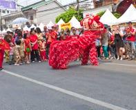 БАНГКОК, Chinatown/THAILAND- 10-ое февраля: Китайское Новый Год китайца традиций Новый Год Стоковое Изображение RF