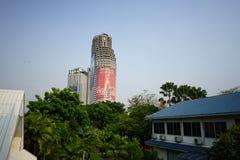 Бангкок Reisefoto Weltreise - башня Sathorn уникально стоковое изображение rf