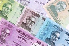 Бангладешские деньги, предпосылка стоковое изображение rf
