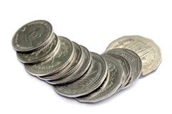 Бангладешские монетки taka стоковое изображение