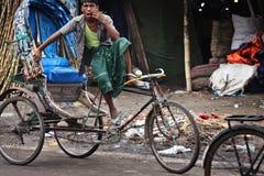 Бангладеш: Рикша велосипеда стоковая фотография rf