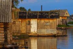 Бани на озере Стоковое Фото