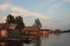 Бани на озере Стоковая Фотография
