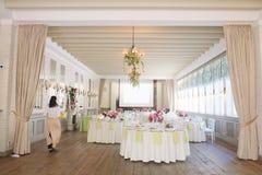 банкет цветет таблица комнаты еды Стоковое Изображение