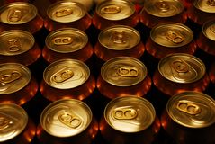 Банки пива Стоковое Изображение RF