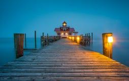 Банки Северная Каролина маяка болот Manteo NC Roanoke наружные стоковое фото