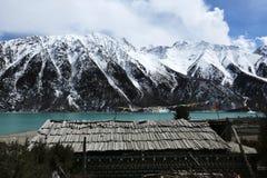 Банки Ranwuhu тибетских людей Стоковое Изображение RF