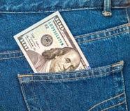 Банкнота 100 американских долларов Стоковые Изображения
