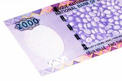 Банкнота валюты Африки Стоковая Фотография