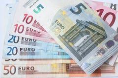 Банкнота валюты евро Стоковое Фото