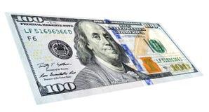 Банкнота 100 долларов американца с портретом Benjami Стоковые Фотографии RF
