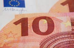 Банкнота евро 10 Стоковое Изображение RF