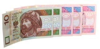 Банкнота заполированности денег финансов на белизне Стоковое Изображение
