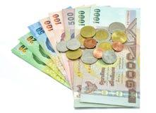 Банкнота и монетка денег Стоковая Фотография