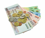 Банкнота и монетка денег Стоковое фото RF