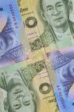 Банкнота и монетка тайского бата Таиланда Стоковое Фото