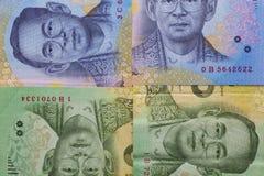 Банкнота и монетка тайского бата Таиланда Стоковое Изображение