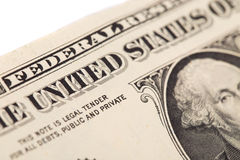 Банкнота доллара Стоковое Фото