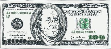 Банкнота 100 долларов Стоковое Фото