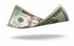 Банкнота 20 долларов Стоковое Фото