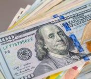 банкнота 100 долларов Стоковые Изображения RF