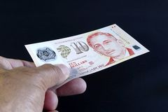 Банкнота Сингапура Стоковые Фотографии RF