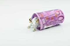 Банкнота Bull и евро Стоковые Изображения