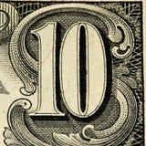 Банкнота currancy США Стоковое Изображение