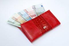 Банкноты в портмоне Стоковая Фотография