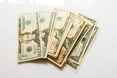 Банкноты доллара конца-вверх американские Стоковая Фотография RF