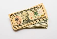 Банкноты доллара конца-вверх американские Стоковое Изображение RF
