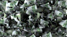 Банкноты евро в куче Стоковые Фотографии RF