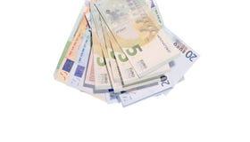 Банкноты евро закрывают вверх, европейская валюта Стоковые Изображения RF