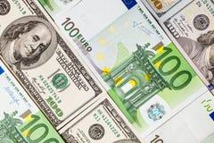 Банкноты евро закрывают вверх Нескольк 100 банкнот евро Стоковое Фото