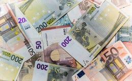 Банкноты евро - предпосылка Стоковая Фотография RF