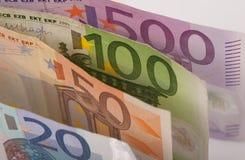 Банкноты евро Стоковое Изображение RF