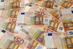 Банкноты денег евро Стоковое Изображение RF