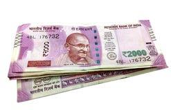 Банкноты индийской рупии стоковое фото