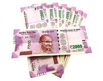 Банкноты индийской рупии стоковая фотография