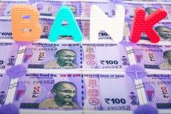 Банкноты индийской рупии стоковая фотография rf