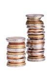 Банкноты и монетки евро Стоковое Изображение RF