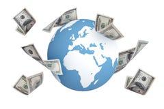 Банкноты доллара вокруг мира Стоковое Изображение RF