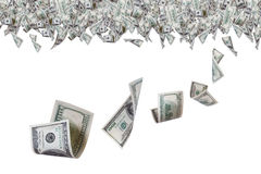 Банкноты доллара на верхней границе Стоковая Фотография